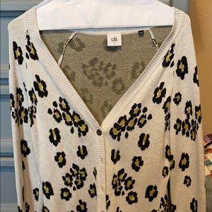 Cabi Kiki cardigan leopard print